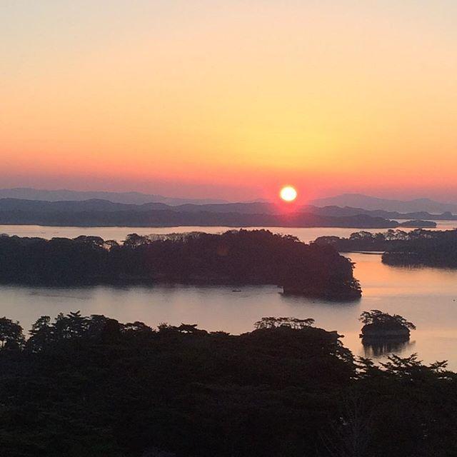 松島の夕焼け