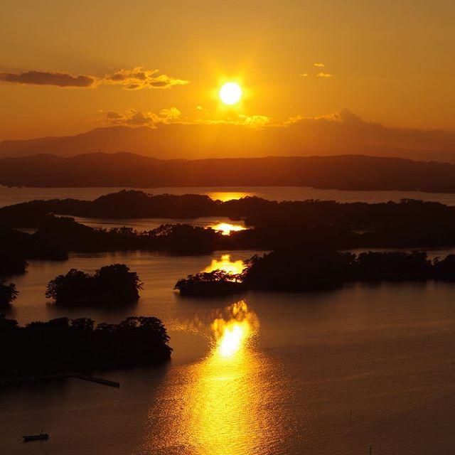 壮観 大高森山 夕日
