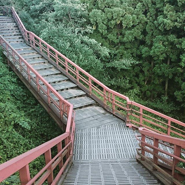 滑津大滝鉄の階段